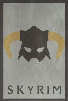Minimalist Video Game Poster - Skyrim