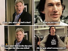 Someone made a hilarious Tumblr imagining the home life of Han Solo and Kylo Ren. | Movies | Someecards