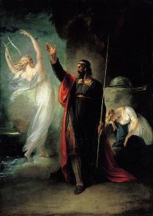 Prospero saving ariel from the witch.