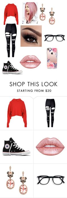 """""""wwe look 8"""" by trina-grace-1 on Polyvore featuring TIBI, WithChic, Converse, Lime Crime, Effy Jewelry and Casetify"""