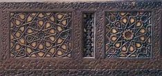 Site with vast information on Islamic geometric design. This photo: a detail of panels on a minbar in the Victoria and Albert museum