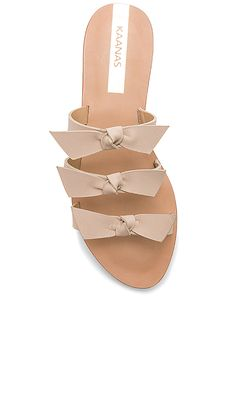 Shop for Kaanas Recife Bow Sandals in Nude at REVOLVE. Free 2-3 day shipping and returns, 30 day price match guarantee.