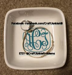 Custom Monogrammed Ring Dish by CraftJunkieProblems on Etsy