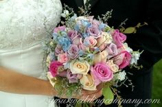 color blocked flower arrangement | ... should i used in my wedding? I'm using light blue as my color