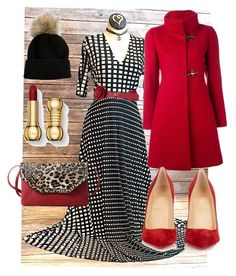 #agnesanddora #austen #wintergashion by jeskelley on Polyvore featuring polyvore, fashion, style, FAY, Christian Louboutin, Linda Richards and clothing