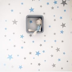 Blue and silver stars walldecals. Nicolasito.es⭐️