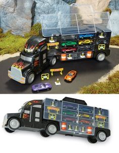 Big Rig Hauler & Cars Toy Set Collections What do you think of this for William?