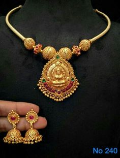 Kerala Jewellery, Temple Jewellery, India Jewelry, Gold Necklace Simple, Simple Jewelry, Baby Jewelry, Kids Jewelry, Gold Jewellery Design, Gold Jewelry