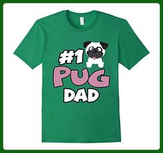 Mens Number 1 Pug Dad Funny Love Shirts Large Kelly Green - Relatives and family shirts (*Amazon Partner-Link)