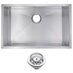 Water Creation Undermount Zero Radius Stainless Steel 30x19x10 0-Hole Single Bowl Kitchen Sink with Strainer in Satin Finish-SSS-US-3019A - The Home Depot  $225.95