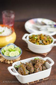 Vankaya Poornam ~ Stuffed Baby Eggplant Curry