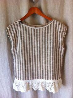 Stitch by Farr: reconstructed woven top with lace addition