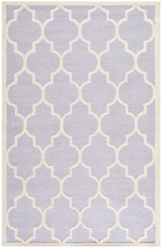 Safavieh Cam134c Cambridge Collection Handmade Wool Area Rug 5 By 8 Feet Lavender