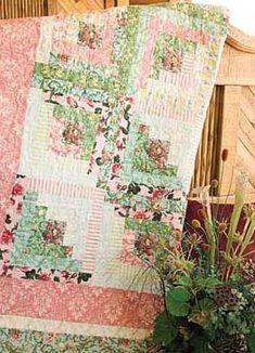 The Rose Garden by Jean Ann Wright, patterned in the February/March 2008 issue of McCall's Quick Quilts magazine.