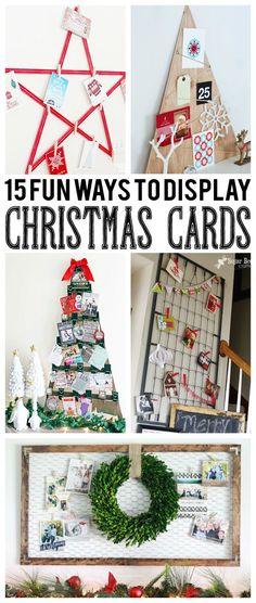 Christmas DIY: Illustration Description 15 Fun Ways To Display Christmas Cards Christmas Activities, Christmas Projects, Christmas Traditions, Holiday Crafts, Holiday Fun, Christmas Ideas, Holiday Ideas, Favorite Holiday, Festive
