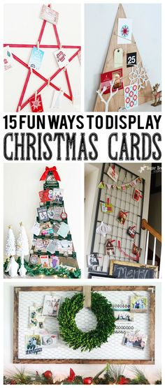 15 Fun Ways To Display Christmas Cards