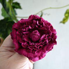 Broche Broche Rose en cuir fleur épingles rose bijoux broche Rose Rose pourpre à la main bijoux cadeau Unique pour son cadeau pour femme, pour la maman