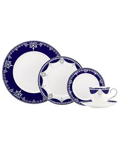 Marchesa by Lenox Dinnerware, Empire Indigo Collection   macys.com