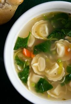 Winter is a great time for soup! Especially this lemon chicken soup with tortellini.