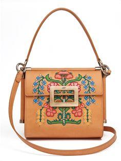 Roger Vivier Miss Viv  Collection Florida handbag. Tan Bag, Bags 2017,  Fashion 118b42d7fd
