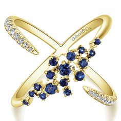 Gabriel & Co.-Voted #1 Most Preferred Fine Jewelry and Bridal Brand- 14k Yellow Gold Lusso Color Fashion Ladies' Ring