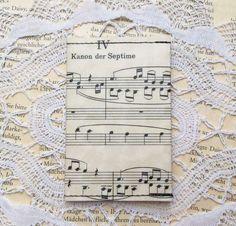 """Visitenkartenetuis - recycling Karten-Etui """"Musik"""" - ein Designerstück von das-war-mal---- bei DaWanda"""