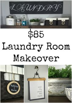 I can't believe the before pictures of this laundry room. You'd never believe it only cost $85 to make over this space!