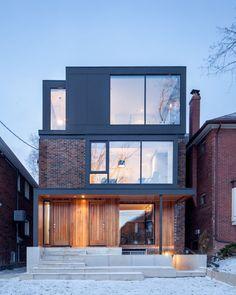 Midtown Triplex Renovation front exterior, Toronto