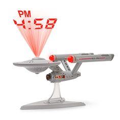 Star Trek Enterprise Projection Alarm Clock - Beam me the time, Scotty.
