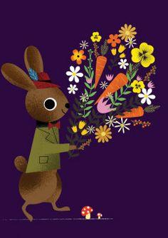 Roger la Borde | Spring Bunny Greeting Card by Daniel Roode