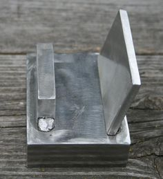 Business Card Holder Welded Scrap Steel - super easy project for new students