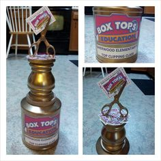 box tops trophies, have one for the entire school and the class that wins for that year gets to have it in their classroom. Pta School, School Fundraisers, School Events, Education Grants, Kids Education, Box Tops, Fundraising, School Projects, Classroom