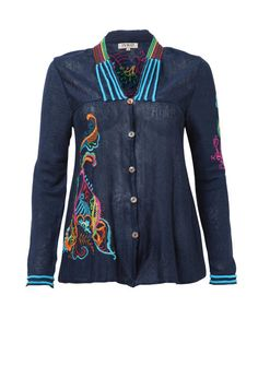 Linen Jacket with Embroid. - Jacket | Ivko Woman