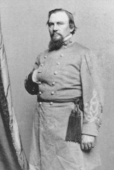 """Roger Weightman Hanson (August 27, 1827 – January 4, 1863) was a general in the Confederate States Army during the American Civil War. The commander of the famed """"Orphan Brigade,"""" he was mortally wounded at the Battle of Murfreesboro. He was nicknamed """"Old Flintlock."""" Hanson was born in Clark County, Kentucky"""