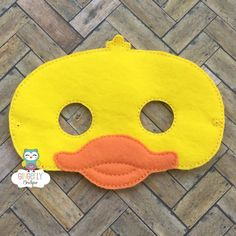 Duck Mask Kids Dress Up Mask Duck Costume Mask by GingerLyBoutique