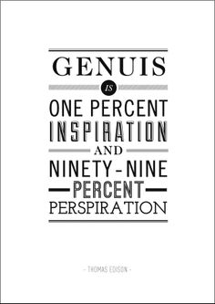 Genuis - Typography Quote Posters by Ben Fearnley