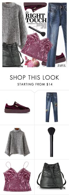 """Street Style"" by pokadoll ❤ liked on Polyvore featuring Puma, NARS Cosmetics, Armani Jeans, polyvoreeditorial and polyvoreset"