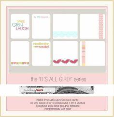 Project Life Freebie- Girl Journaling Card Printable | [ One Velvet Morning ]