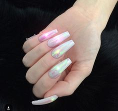 holo coffin nails