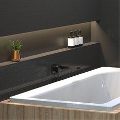 Axiss Wall Mounted Basin / Bath Mixer Black
