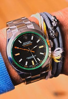 Milgauss GV with a green saphire crystal