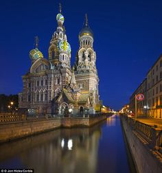The Church of the Spilled Blood and Griboyedov Canal in St Petersburg, Russia
