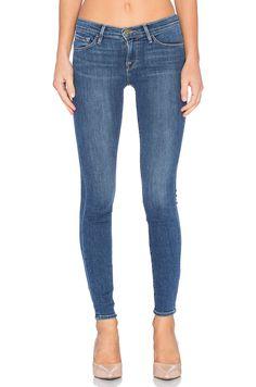 FRAME DENIM Slim Le Skinny De Jeanne Stretch Jeans Pants Huntley Blue 25 $220 #FrameDenim #SlimSkinny