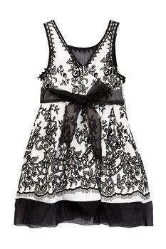GERSON & GERSON Sleeveless Flock Knit Dress (Little Girls)