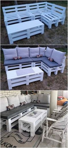 Implausible DIY Wood Pallet Furniture Ideas and Designs: No matter whether it is about indoor beauty of the house or for outdoor attraction, choosing shipping wood pallet stuff. Garden Furniture Inspiration, Palette Garden Furniture, Garden Furniture Design, Pallet Furniture Designs, Wooden Pallet Furniture, Backyard Furniture, Diy Outdoor Furniture, Wood Pallets, Furniture Ideas