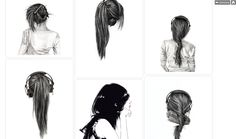 Awesome hair illustrations
