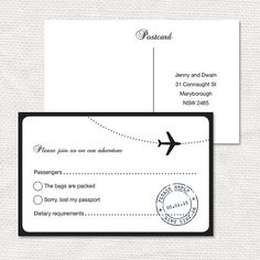 come fly with me RSVP or insert  printable file  by idoityourself, $20.00