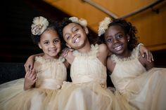 The flower girls are too cute!