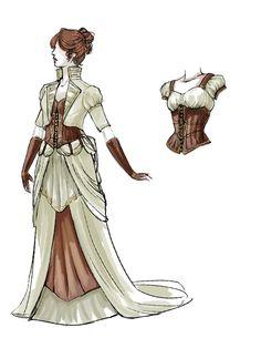Steampunk Wedding Dress Revamp by daestwen.deviantart.com on @deviantART