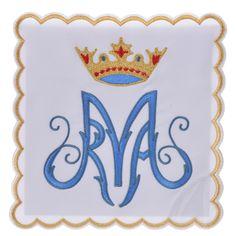 Linge d'autel 4 pcs symbole Marial M | vente en ligne sur HOLYART
